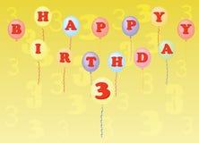 Happy birthday three years Royalty Free Stock Images