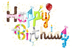 Happy Birthday Title Graphic Stock Image