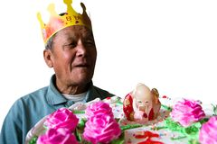 Happy birthday to grandpa Royalty Free Stock Images