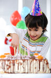 Happy birthday to you!. Funny kid royalty free stock images