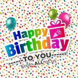 Happy Birthday to you from all of us Card.