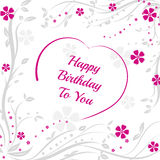 Happy Birthday to you, background with purple heart Royalty Free Stock Images