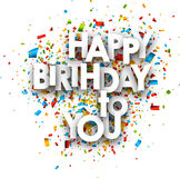 Happy birthday to you card. Royalty Free Stock Image