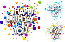 Happy birthday to you cards. Royalty Free Stock Photography