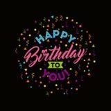 Happy birthday to you celebration poster Stock Photography