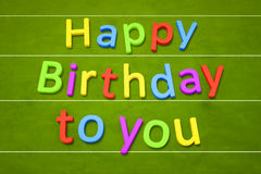 Happy birthday to you Royalty Free Stock Photography