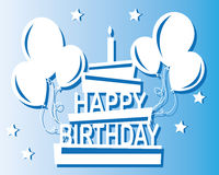 Happy birthday. To you in flat design Royalty Free Stock Photo