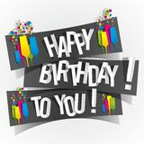 Happy Birthday To You Greeting Card Royalty Free Stock Images