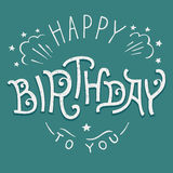 Happy Birthday to you hand-lettering Stock Photo