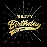 Happy birthday to you lettering design. Vector and illustration. royalty free illustration