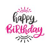 Happy Birthday to You poster template. With hand written modern calligraphy, isolated on white. Vector illustration vector illustration
