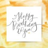Happy birthday to you Royalty Free Stock Photos