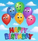 Happy Birthday topic image 3. Vector illustration Royalty Free Stock Photography