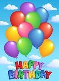 Happy Birthday topic image 4. Vector illustration Royalty Free Stock Photo