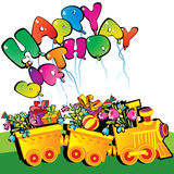 Happy birthday train. Royalty Free Stock Photo