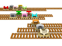Happy birthday train on rails Royalty Free Stock Images