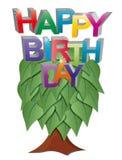 Happy birthday tree Stock Photos
