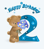 Happy birthday two years Royalty Free Stock Images