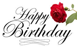 Happy Birthday Type Royalty Free Stock Photos