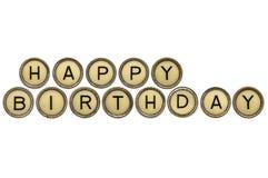 Happy Birthday in typewriter keys Royalty Free Stock Photos