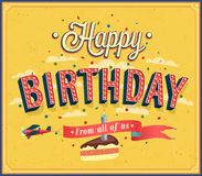 Happy birthday typographic design. Royalty Free Stock Photos