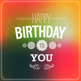 Happy birthday typographic design. Royalty Free Stock Images
