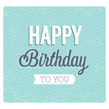 Happy birthday typographic design. Stock Image