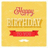 Happy birthday typographic design. Stock Photo