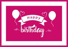 Happy Birthday typographic vector design for greeting cards, print and cloths stock illustration