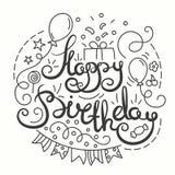 Happy Birthday Typographics Design. Royalty Free Stock Image