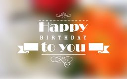 Happy Birthday Typography Background Stock Photos