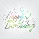 Happy Birthday Typography Royalty Free Stock Photography