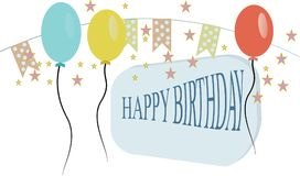 Happy Birthday typography  design Royalty Free Stock Photography
