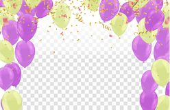 Happy Birthday typography vector design for greeting cards and poster with balloon illustration. Eps.10 royalty free illustration