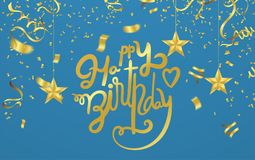 Happy Birthday typography vector design for greeting cards and poster with balloon illustration. Eps.10 stock illustration