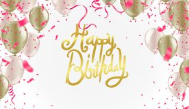 Happy Birthday typography vector design for greeting cards and poster with balloon, and design template for eps.10. Happy Birthday typography vector design for vector illustration