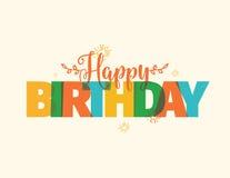 Happy Birthday typography. Vector design. Royalty Free Stock Photo