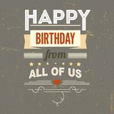 Happy Birthday, typography, vintage poster, grunge Stock Photo