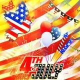 Happy birthday USA Stock Images
