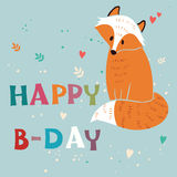 Happy Birthday vector card Royalty Free Stock Images