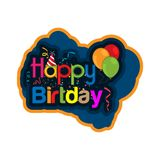 Happy birthday vector design with abstract background. See more images related Royalty Free Stock Photography