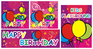 Happy birthday + vector file Stock Images