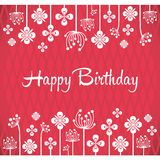 Happy birthday vector greeting card Royalty Free Stock Images