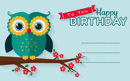 Happy birthday! Vector greeting card. Royalty Free Stock Images
