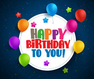Happy birthday vector greetings with text in white space Stock Image