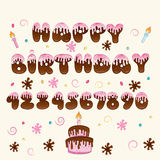 Happy Birthday vector hand lettering Royalty Free Stock Image