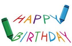 Happy Birthday. Vector illustration of happy birthday Stock Photo