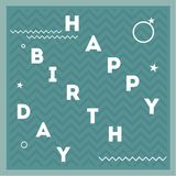 Happy birthday. Vector illustrations and objects Stock Photos
