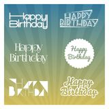 Happy birthday. Vector illustrations and objects Royalty Free Stock Image