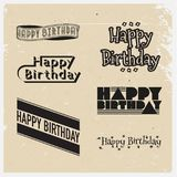 Happy birthday. Vector illustrations and objects Stock Photography